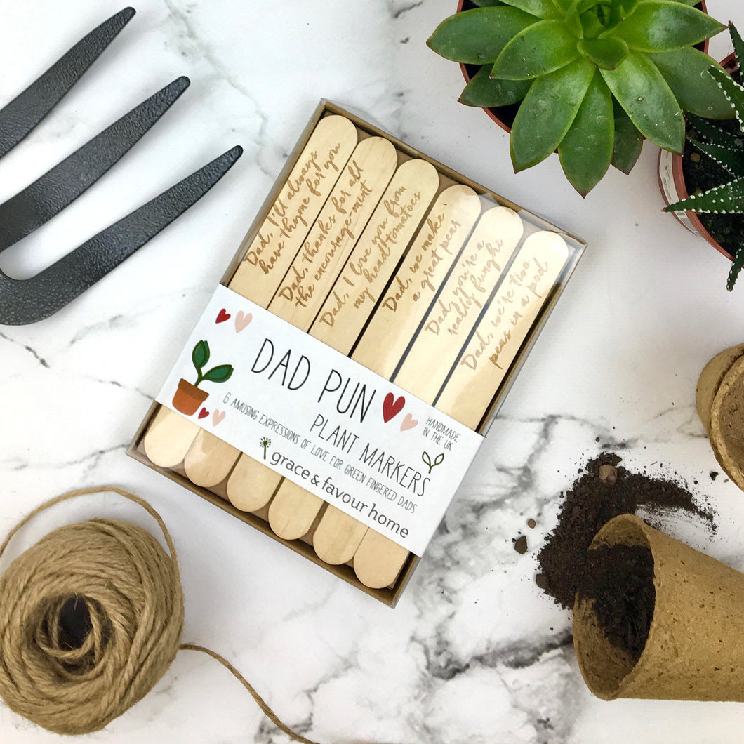Dad Pun Plant Marker - Boxed
