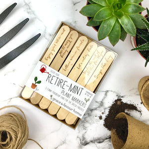 Enjoy Your Retire-Mint Plant Markers - Boxed