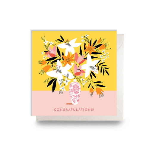 Congratulations Floral Card