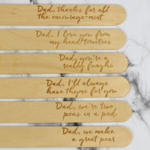 Dad Pun Plant Markers