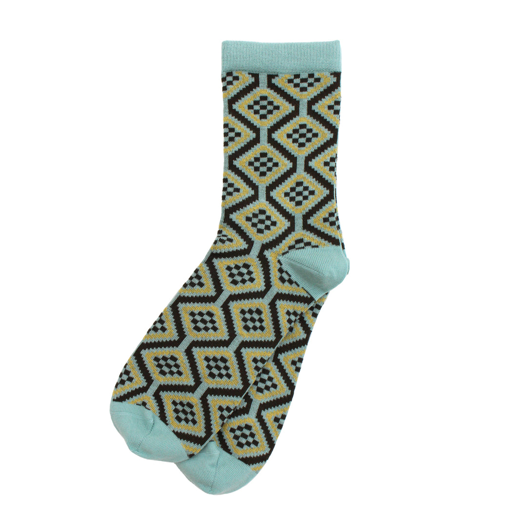 Duck Egg 'Wave' Ladies Socks