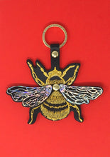 Leather Bee Key Fob - Choice of Colours