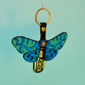 Leather Butterfly Key Fob