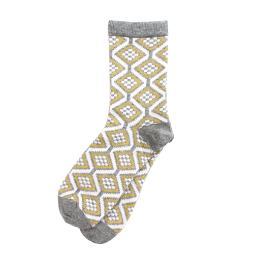 Ash Grey 'Wave' Ladies Socks