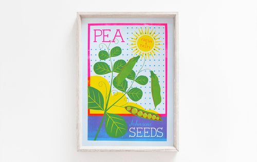 A4 Pea Seeds Risograph Print