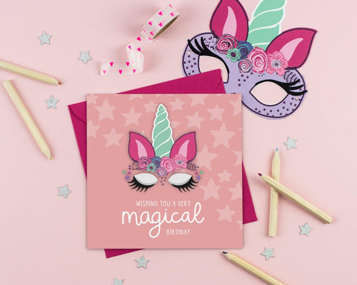 Magical Unicorn Birthday Card with Craft Activity