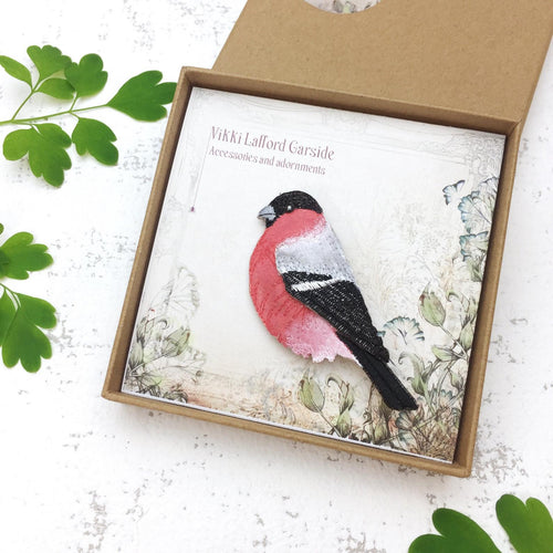 Bullfinch Brooch