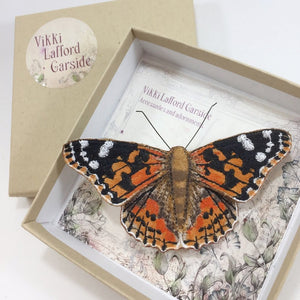 Painted Lady Butterfly Brooch