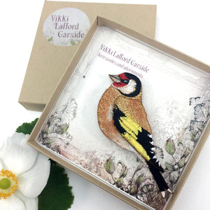 Goldfinch Brooch