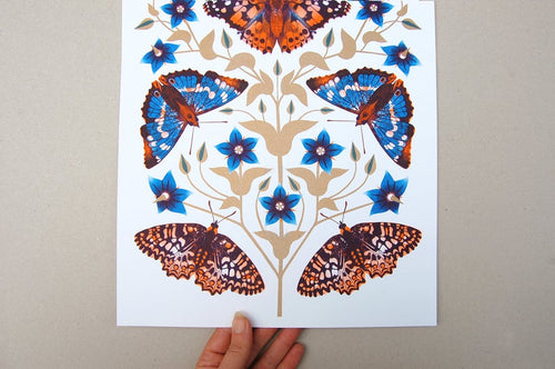 Autumn Days Butterfly A3 Risograph Print