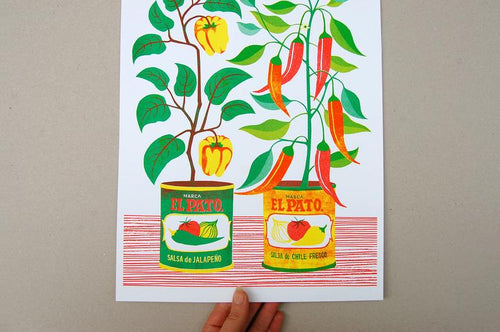 Chilli Pepper A3 Risograph Print