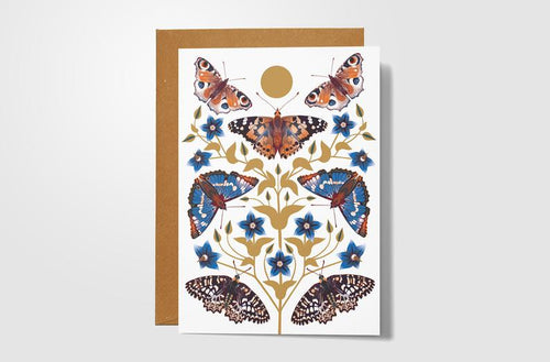 Autumn Days Butterfly Card
