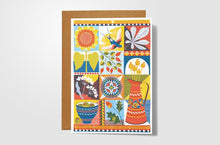 September Folk Art Card