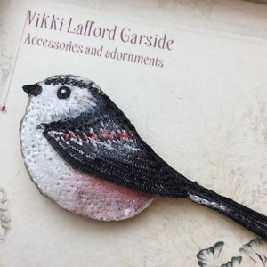 Long Tailed Tit Brooch