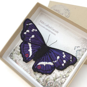 Purple Emperor Butterfly Brooch