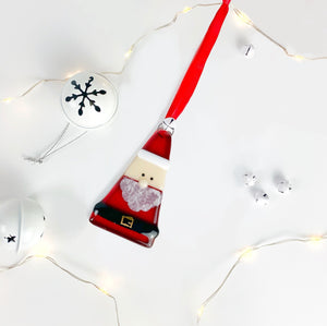 Santa Claus Christmas Glass Decoration
