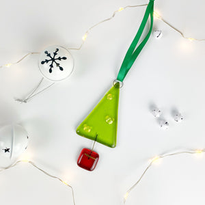 Christmas Tree Glass Decoration
