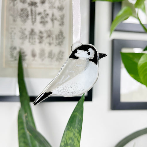 Coal Tit Glass Decoration