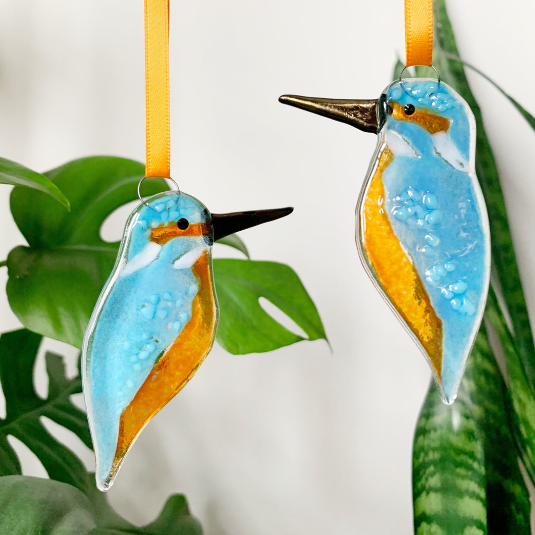 Kingfisher Glass Decoration