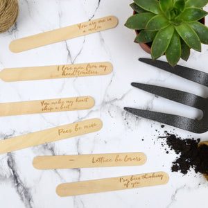 Love Pun Plant Marker Set
