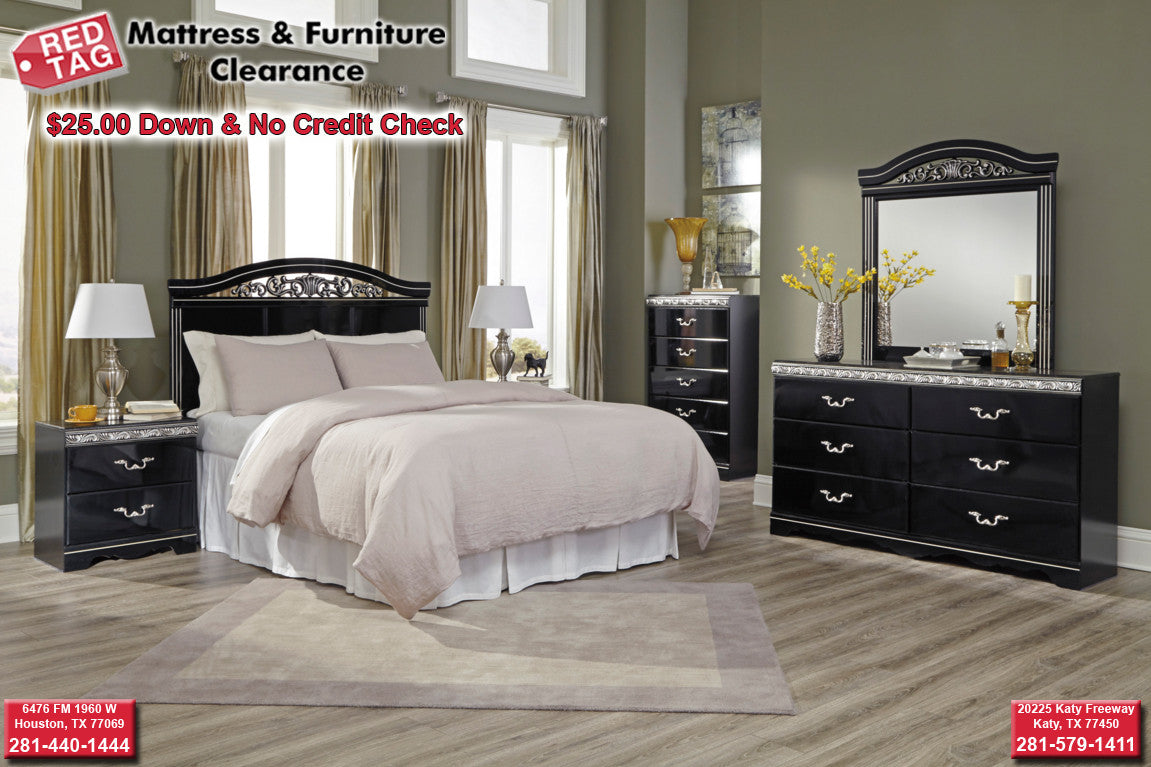 No Credit Check Bedroom Furniture Ashley Constellations Bedroom Set B104 Red Tag Mattress And