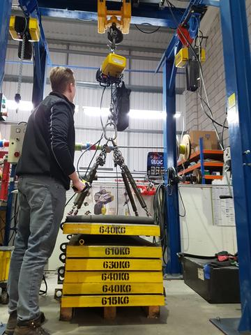 Test and Inspection of GIS Industrial Hoists or Electric Travel Trolleys