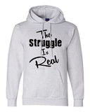 "Unisex Champion Double Dry Eco Hoodie Sweatshirt ""The Struggle is Real"" RB Clothing Co"