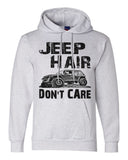 "Champion Unisex Eco Double Dry Hoodie Sweatshirt ""JEEP Hair Don't Care"" RB Clothing Co"