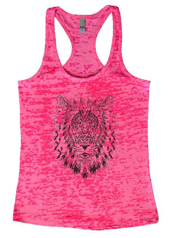 "Womens Tank Top ""Mandala Tiger"" 1050 Womens Funny Burnout Style Workout Tank Top, Yoga Tank Top, Funny Mandala Tiger Top"