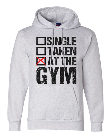 "Unisex Champion Eco Double Dry Hoodie ""Single, Taken, at the GYM"" RB Clothing Co"