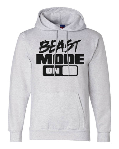 "Unisex Champion Double Dry Eco Graphic GYM Hoodie ""Beast Mode ON""  RB Clothing Co"