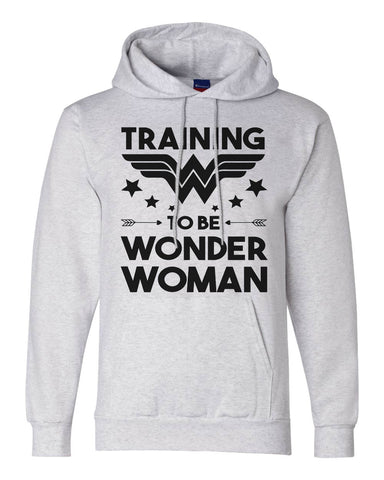 "Champion Unisex Double Dry Eco Hoodie ""Training To Be Wonder Woman""  RB Clothing Co"