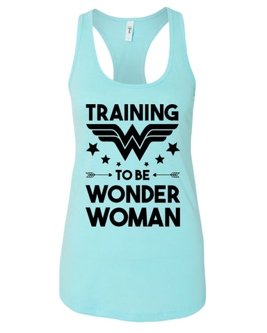 "Womens Ideal Racerback Tank Top ""Wonder Women"" RB Clothing Co"