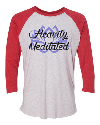 "Unisex Christmas Soft Tri-Blend Baseball T-Shirt ""Heavily Meditated"" Rb Clothing Co"