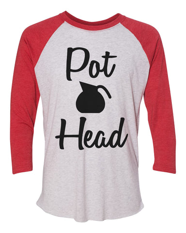 "Unisex Christmas Soft Tri-Blend Baseball T-Shirt ""Pot Head"" Rb Clothing Co"