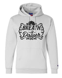 "Unisex Champion Hoodie ""Breath Is Power"" RB Clothing Co"