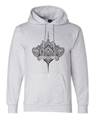 "Unisex Champion Hoodie ""Lotus"" RB Clothing Co"