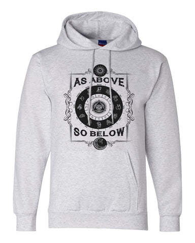 "Unisex Champion Hoodie ""As Above So Below"" RB Clothing Co"