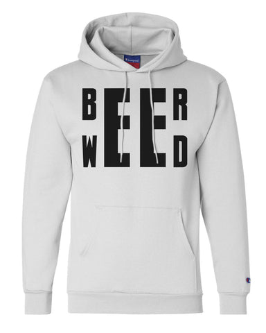 "Unisex Champion Hoodie ""Beer Weed"" RB Clothing Co"