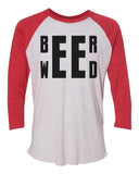 "Unisex Christmas Soft Tri-Blend Baseball T-Shirt ""Beer Weed"" Rb Clothing Co"