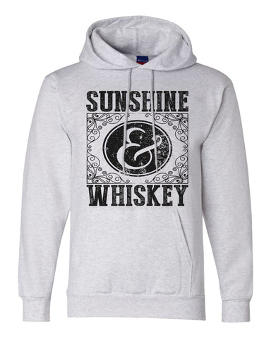 "Unisex Champion Hoodie ""Sunshine & Whiskey"" RB Clothing Co"