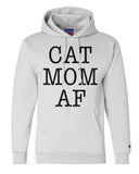 "Unisex Champion Hoodie ""Cat Mom AF"" RB Clothing Co"