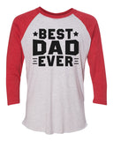 "Unisex Christmas Soft Tri-Blend Baseball T-Shirt ""Best Dad Ever"" Rb Clothing Co"