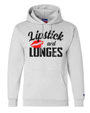 "Unisex Champion Hoodie ""Lipstick And Lunges"" RB Clothing Co"