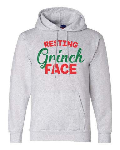 "Unisex Champion Hoodie ""Resting Grinch Face"" RB Clothing Co"