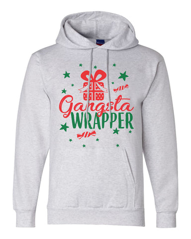"Unisex Champion Hoodie ""Gangsta Wrapper"" RB Clothing Co"