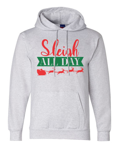 "Unisex Champion Hoodie ""Sleigh All Day"" RB Clothing Co"