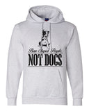 "Unisex Champion Hoodie ""Ban Stupid People Not Dogs"" RB Clothing Co"