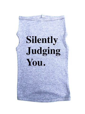 "RB Clothing Co Pet Clothes, Printed Dog T-Shirt ""Silently Judging You"" USA MADE XS-3XL"