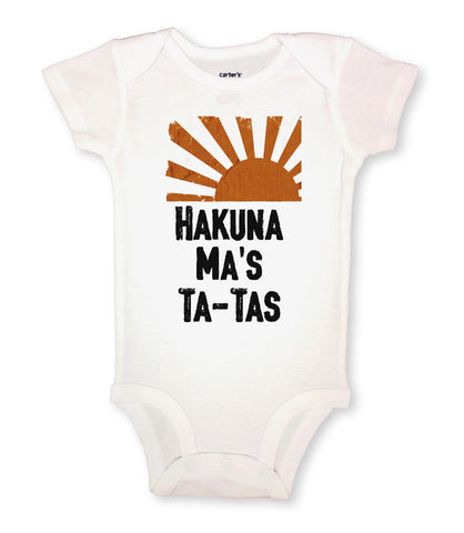 "RB Clothing Co - Hawaiian Inspired Baby Bodysuit ""Hakuna Ma's Ta Ta's"""